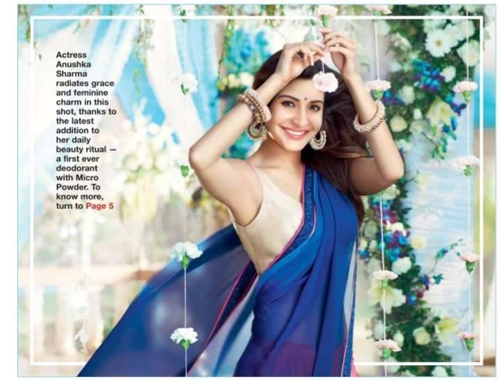 Anushka Sharma blue saree