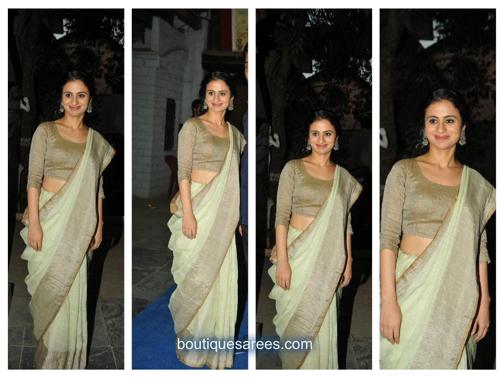 Rasika Dugal in anavila saree