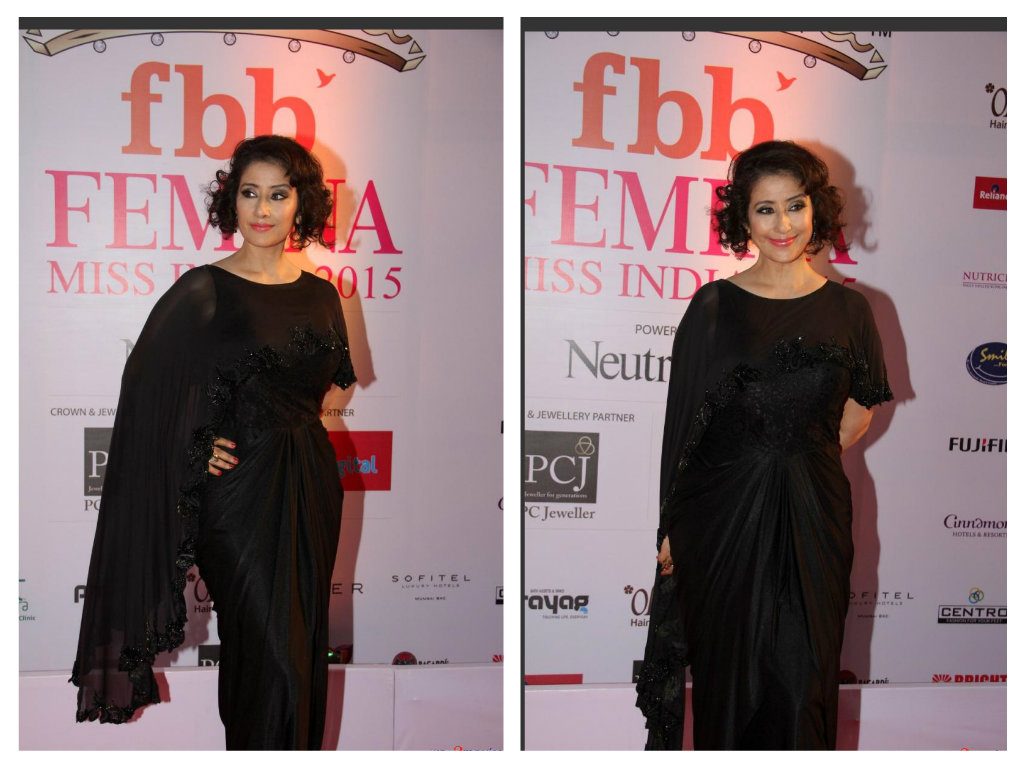 manisha in black saree