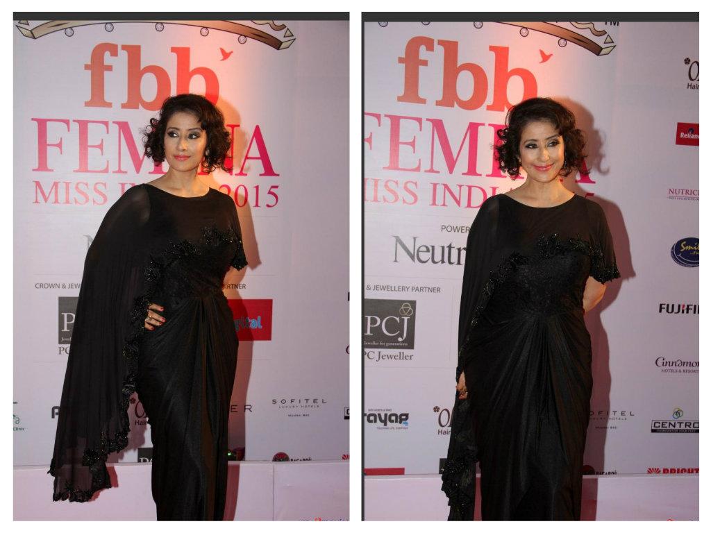 manisha in black saree