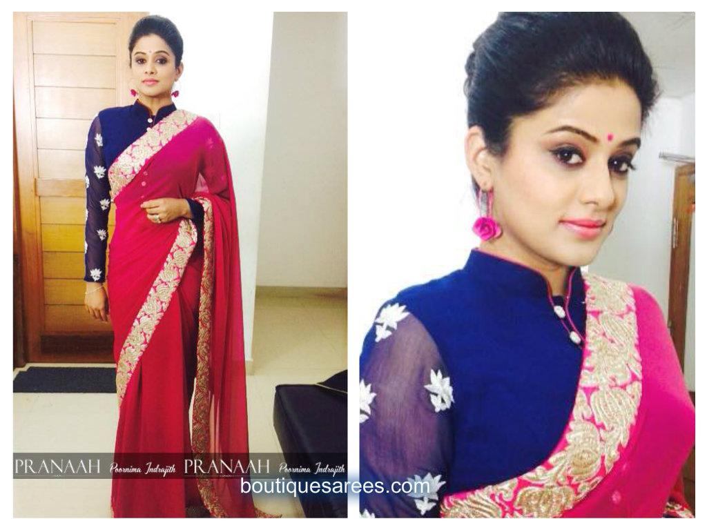 priyamani in pink saree