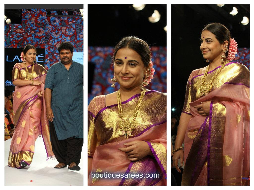 vidya balan in sari
