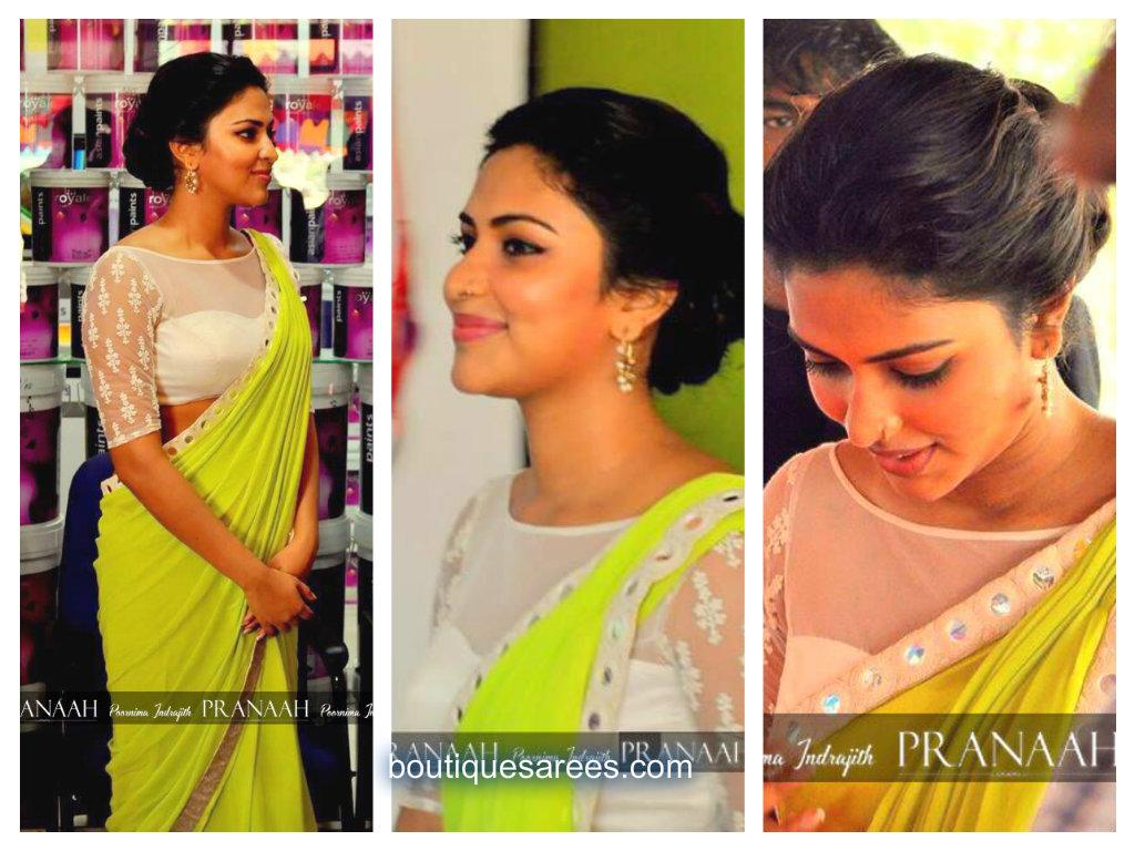 amala paul in pranaah saree