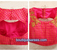 blouse neck design front and back