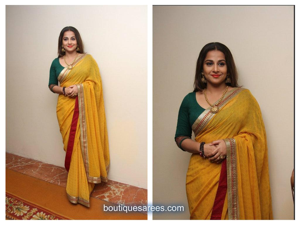 vidyabalan in ritukumar sari