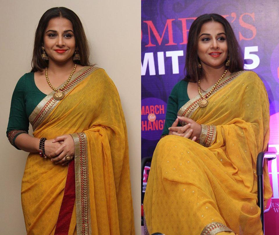 vidyabalan in ritukumar saris
