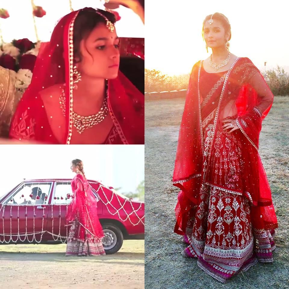 Alia bhatt in anita dongre