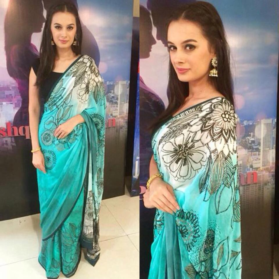 Evelyn sharma in satya paul saree