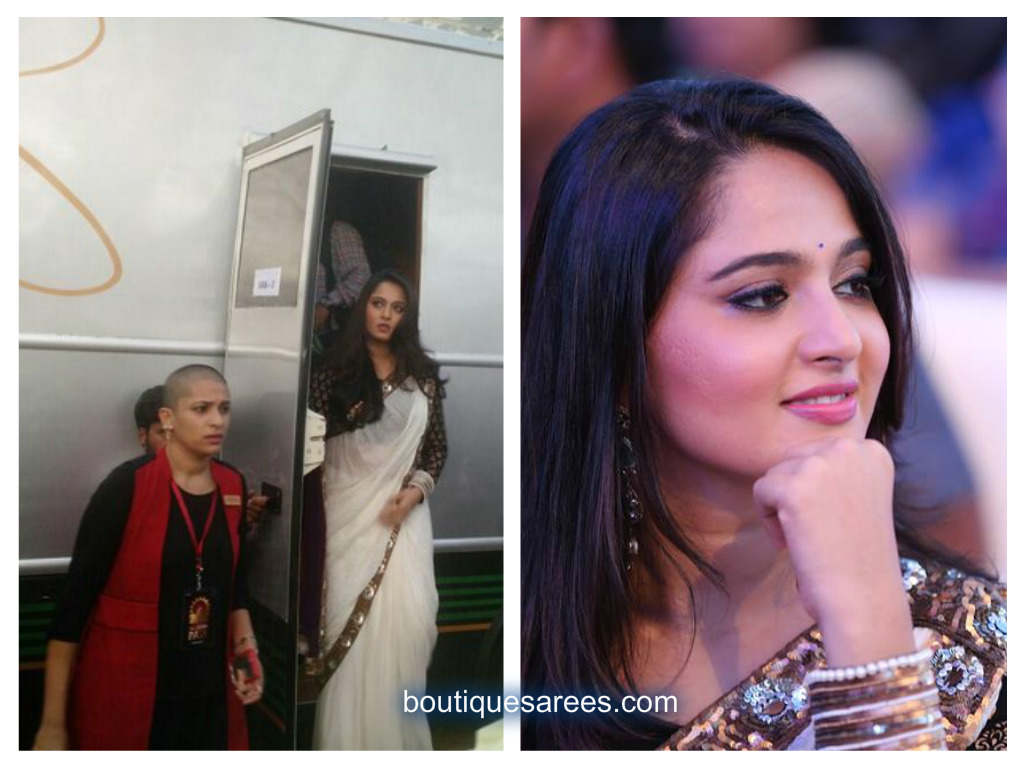 anushka in white saree