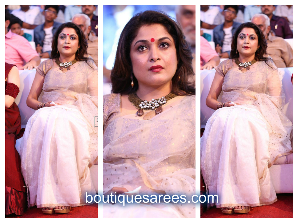 ramya krishna in white saree