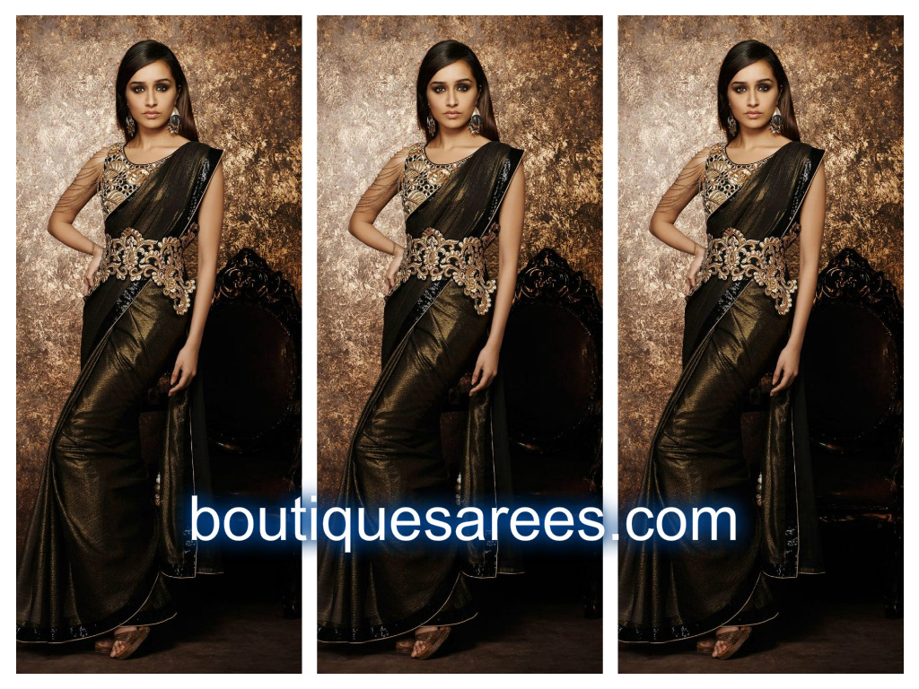 shraddha kapoor in saree blouse