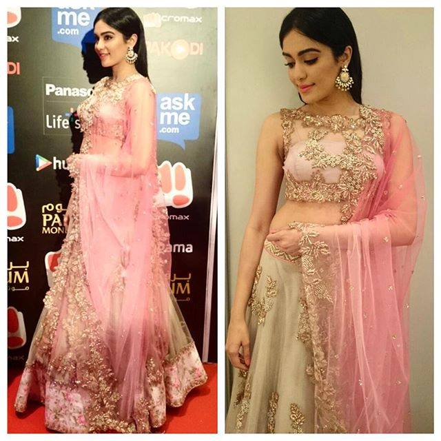 Adah-Sharma in anushree reddy lehenga