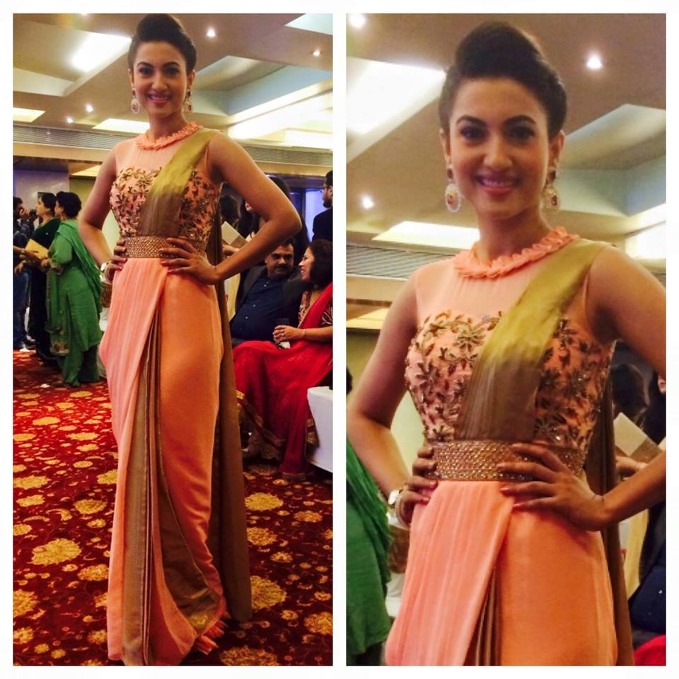 Gauhar Khan in mapxencaRS saree gown – Boutiquesarees.com