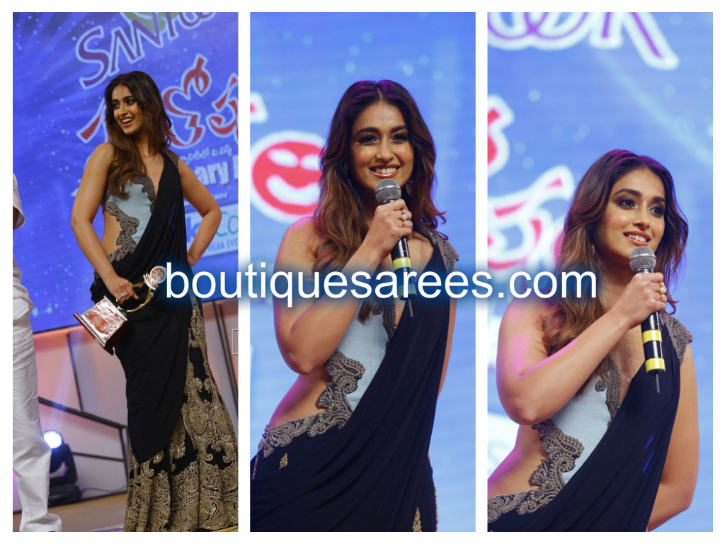 ileana in half and half saree