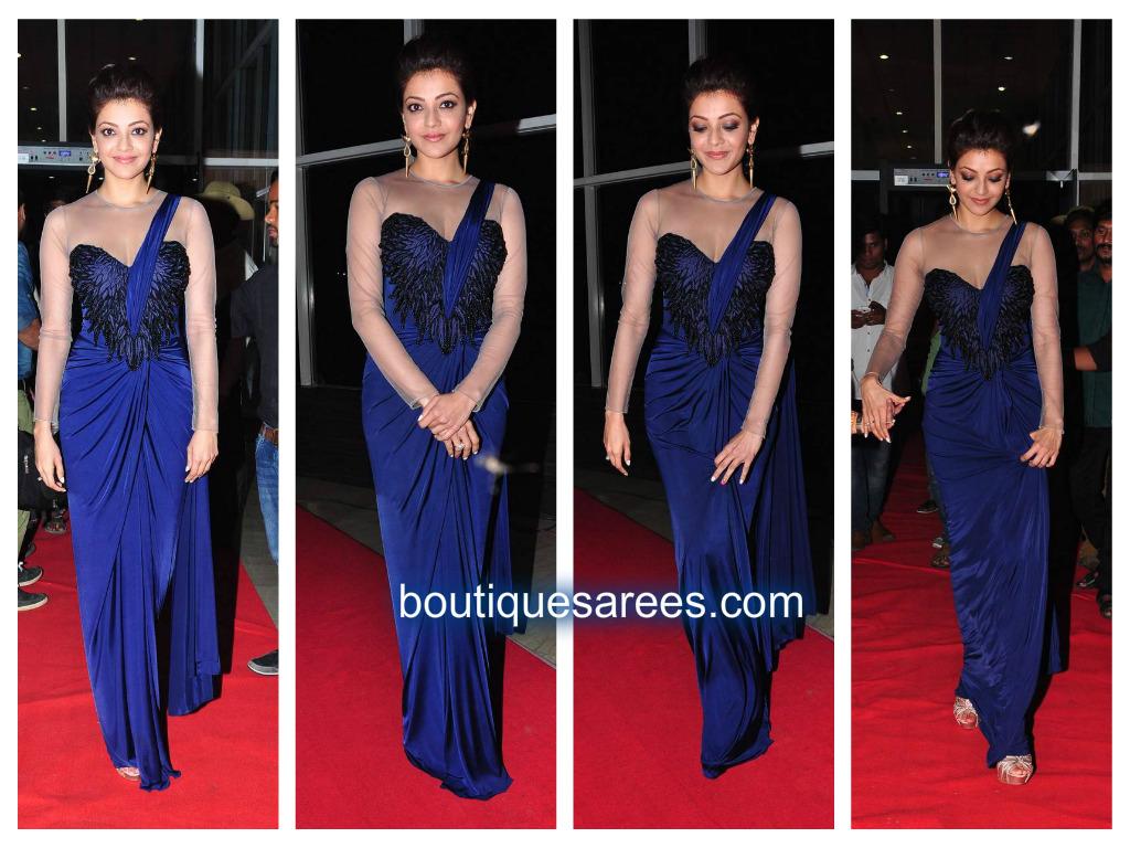 blue saree gown – Boutiquesarees.com