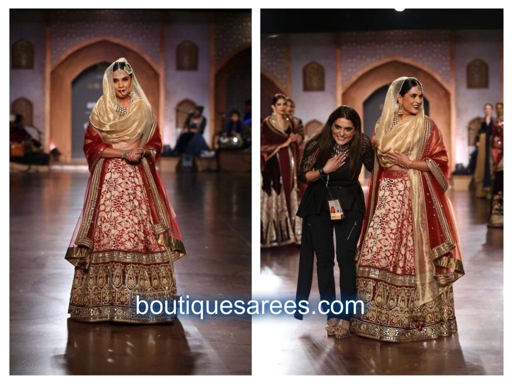 richa in bridal lehenga