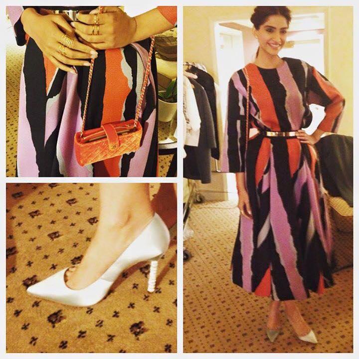 sonam kapoor in printed dress