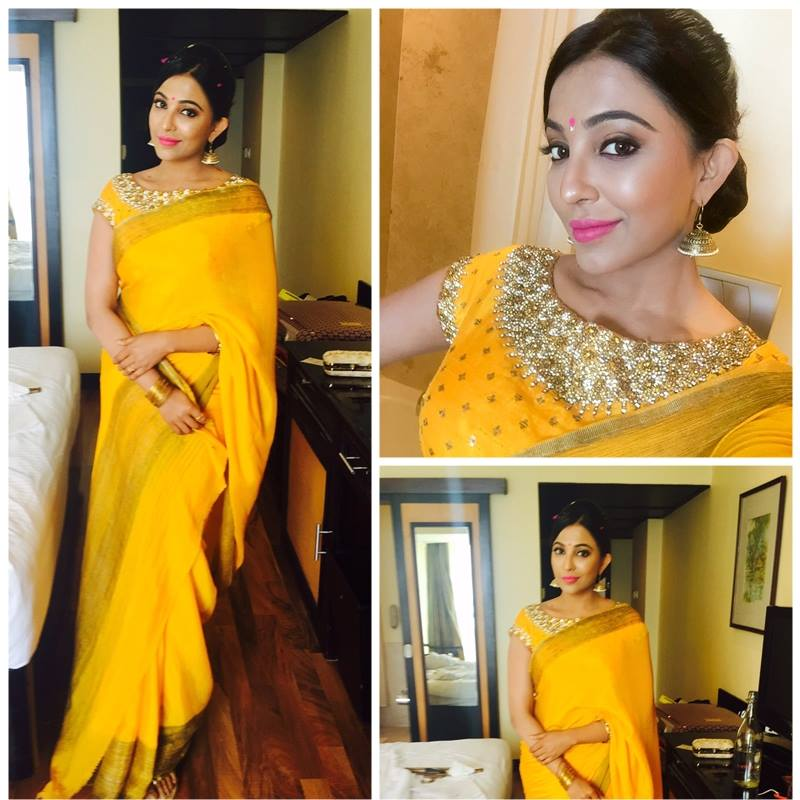 Parvathy Nair in yellow saree