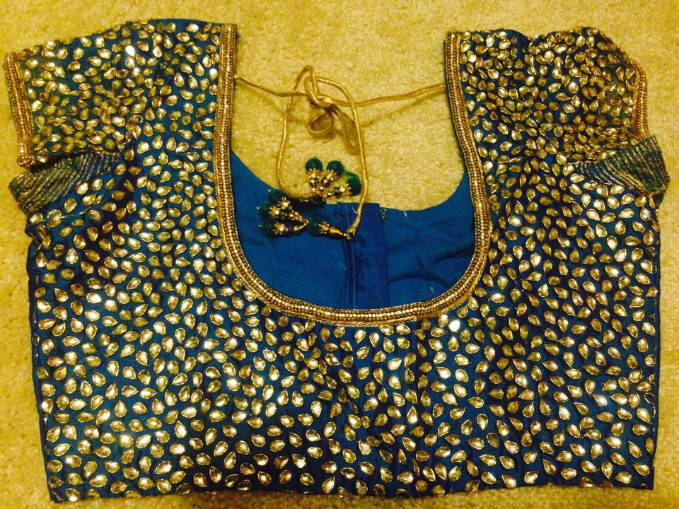 all over kundan work blouse