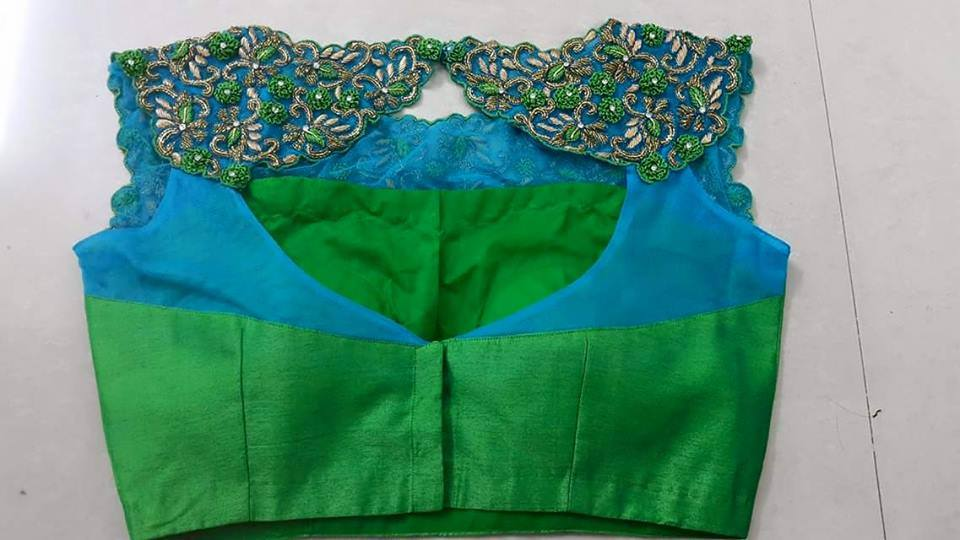 blouse embroidery back design
