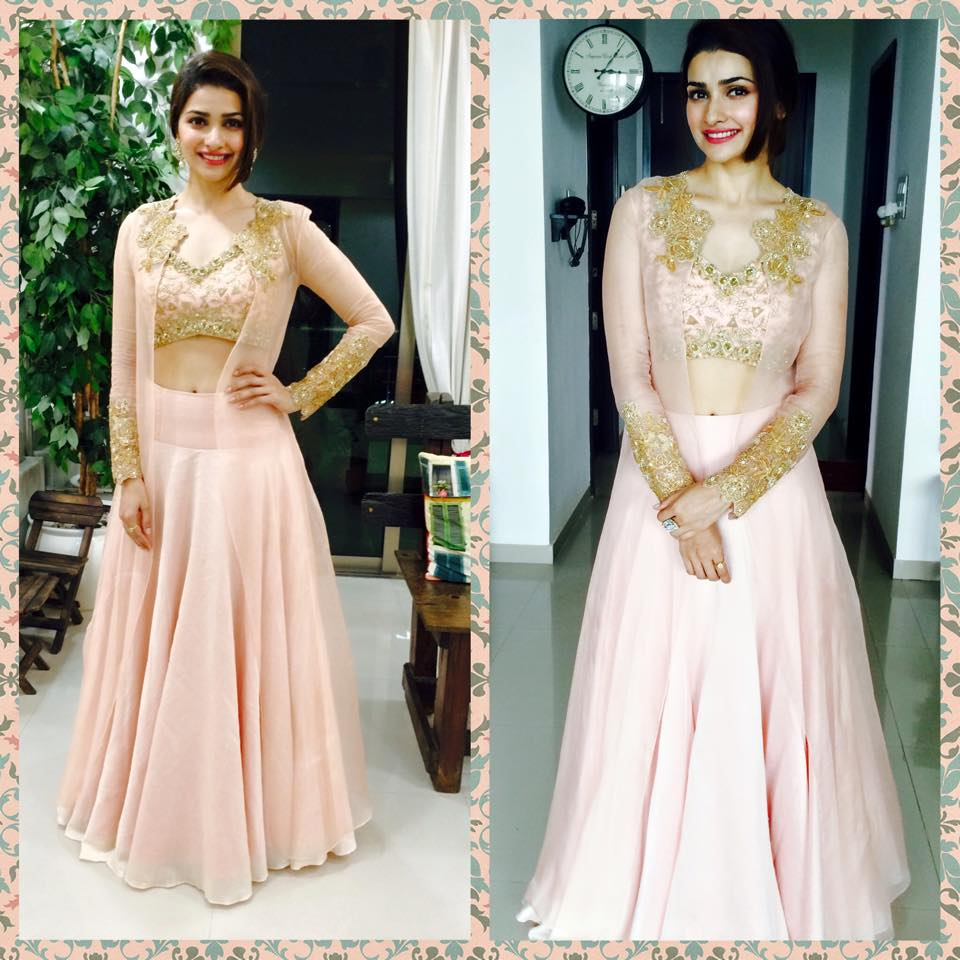 Image result for prachi desai in pink lehenga