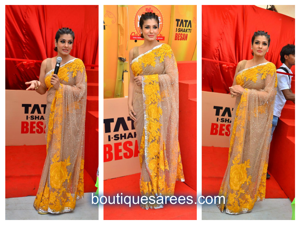raveena in manish malhotra saree