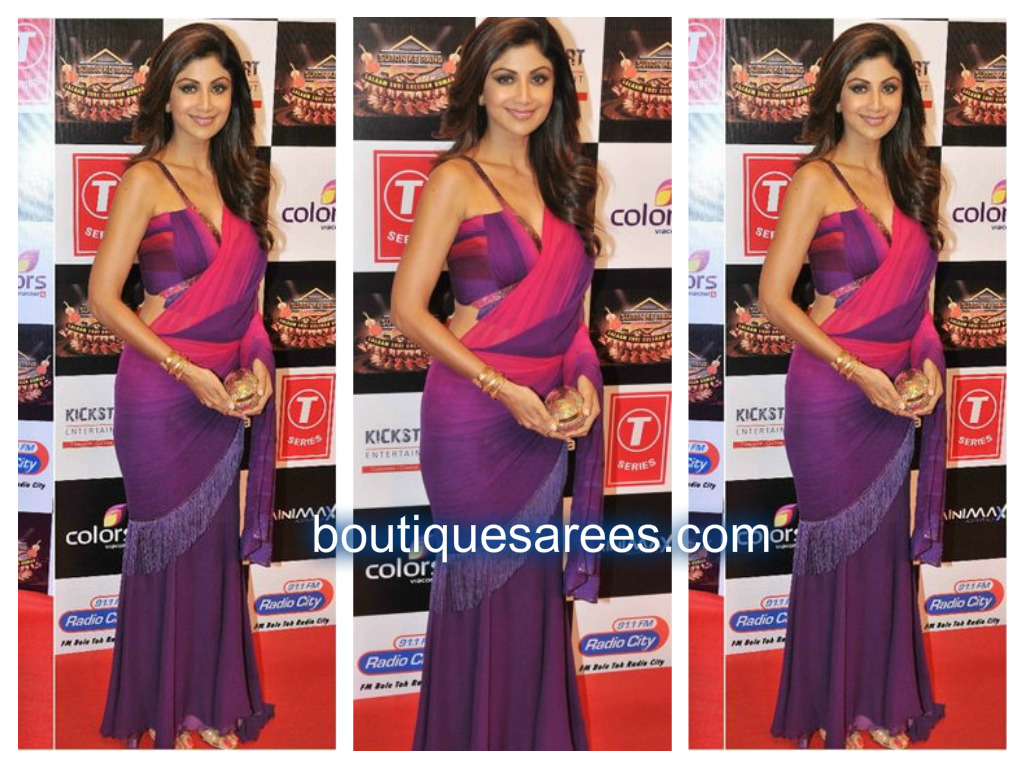 shilpa in tarun saree