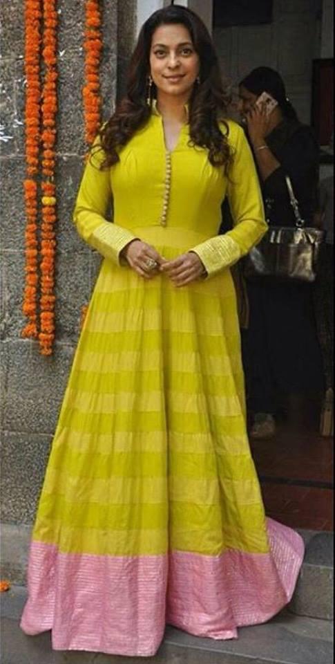 Juhi Chawla in Manish Malhotra