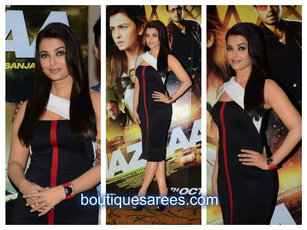 aish in black dress