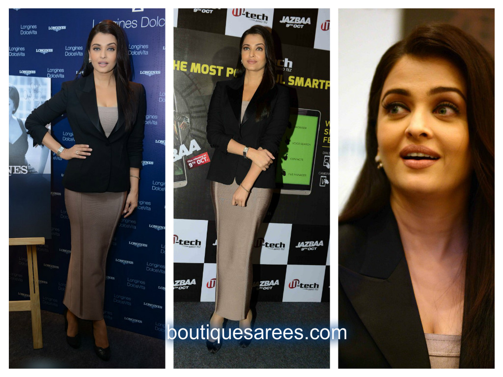 aishwarya in body con dress