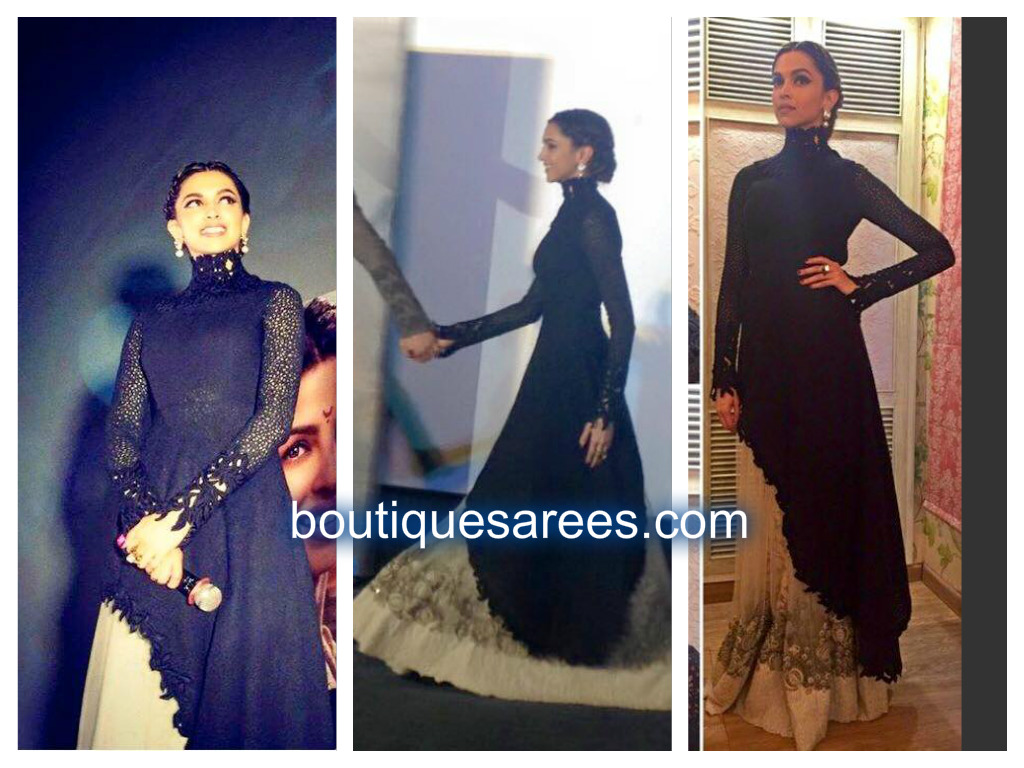 deepika padukone at bajirao mastani trailer launch – Boutiquesarees.com