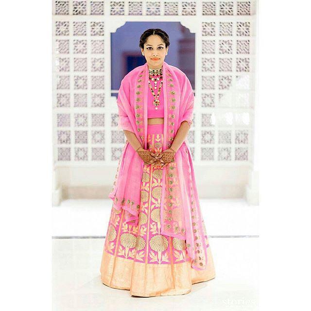 masaba in pink lehenga