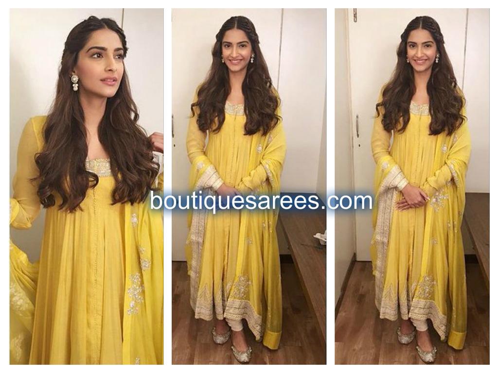sonam in yellow salwar