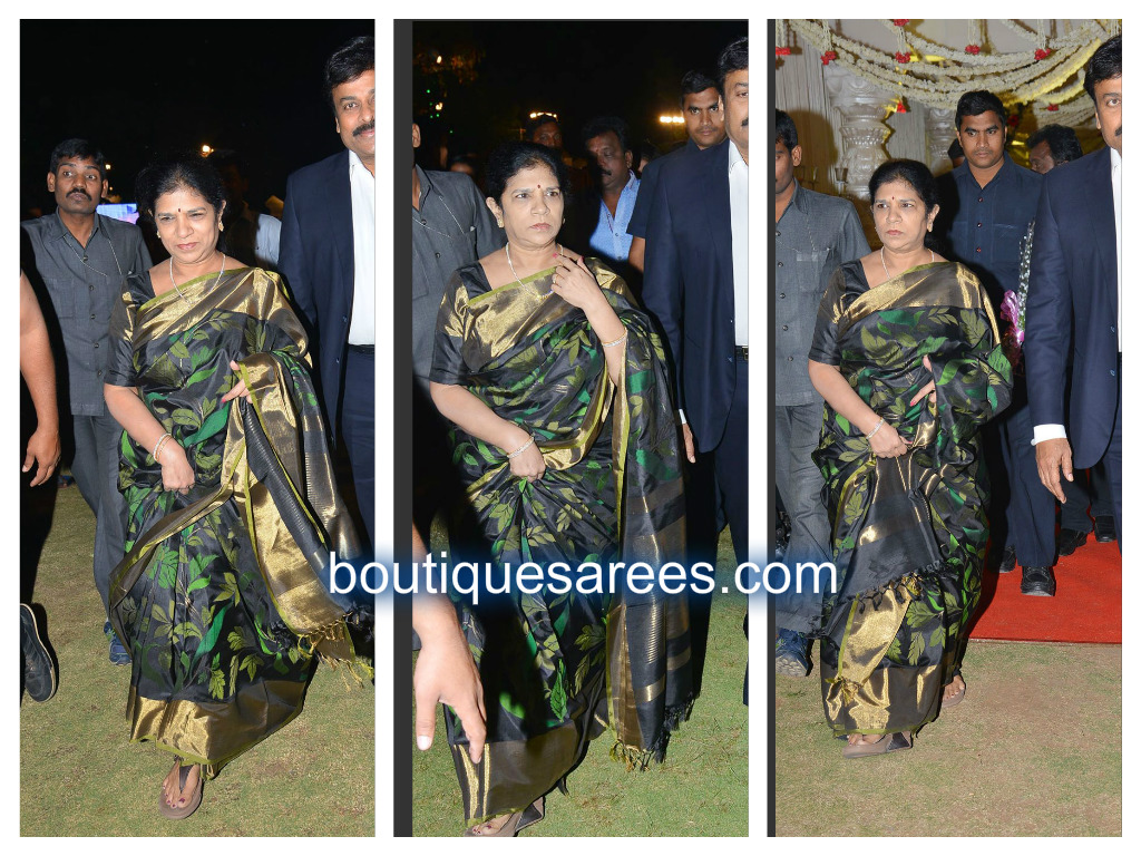 surekha chiranjeevi in black saree