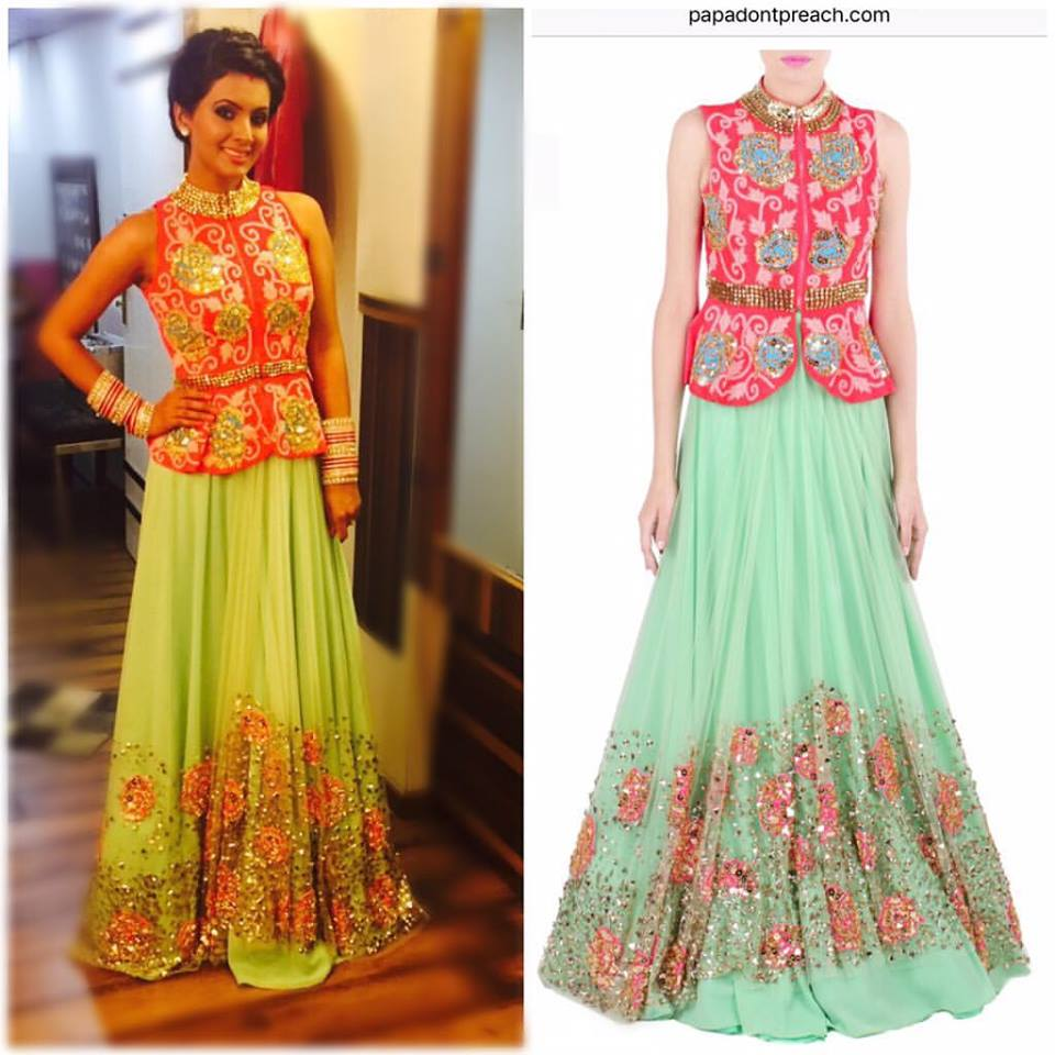 Geeta basra wedding dress