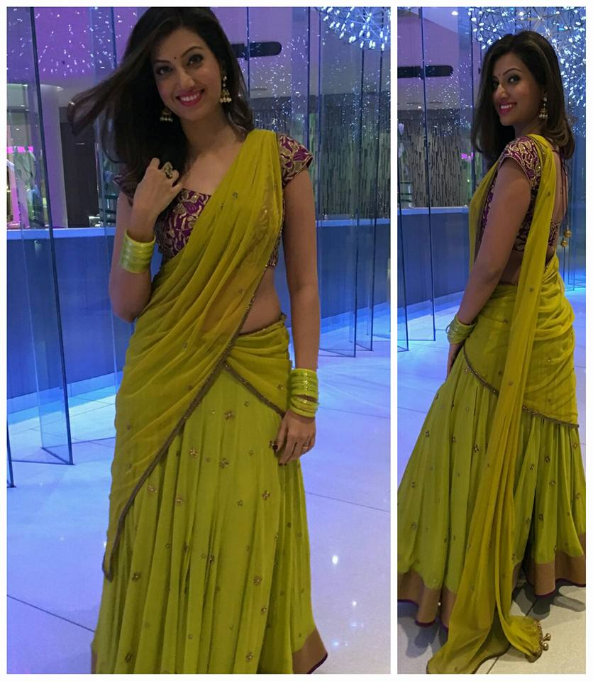 hamsanandini in shilpa reddy half saree