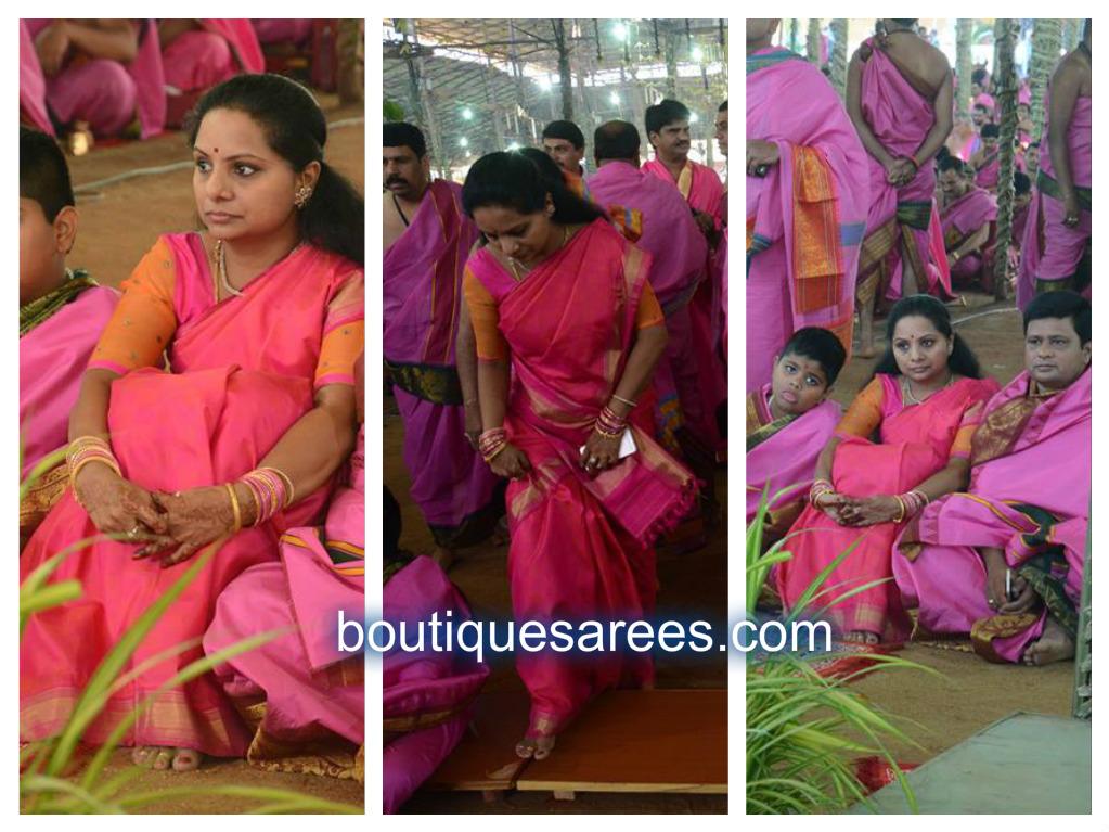 kavitha in pink sari blouse