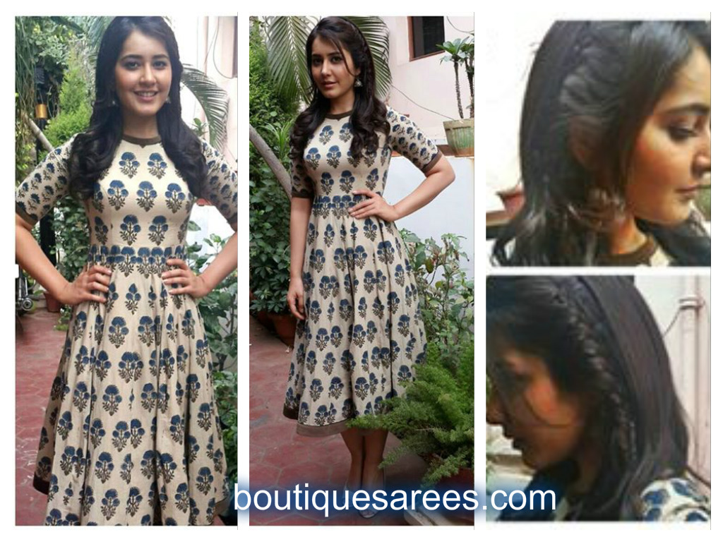 rashi khanna in printed dress