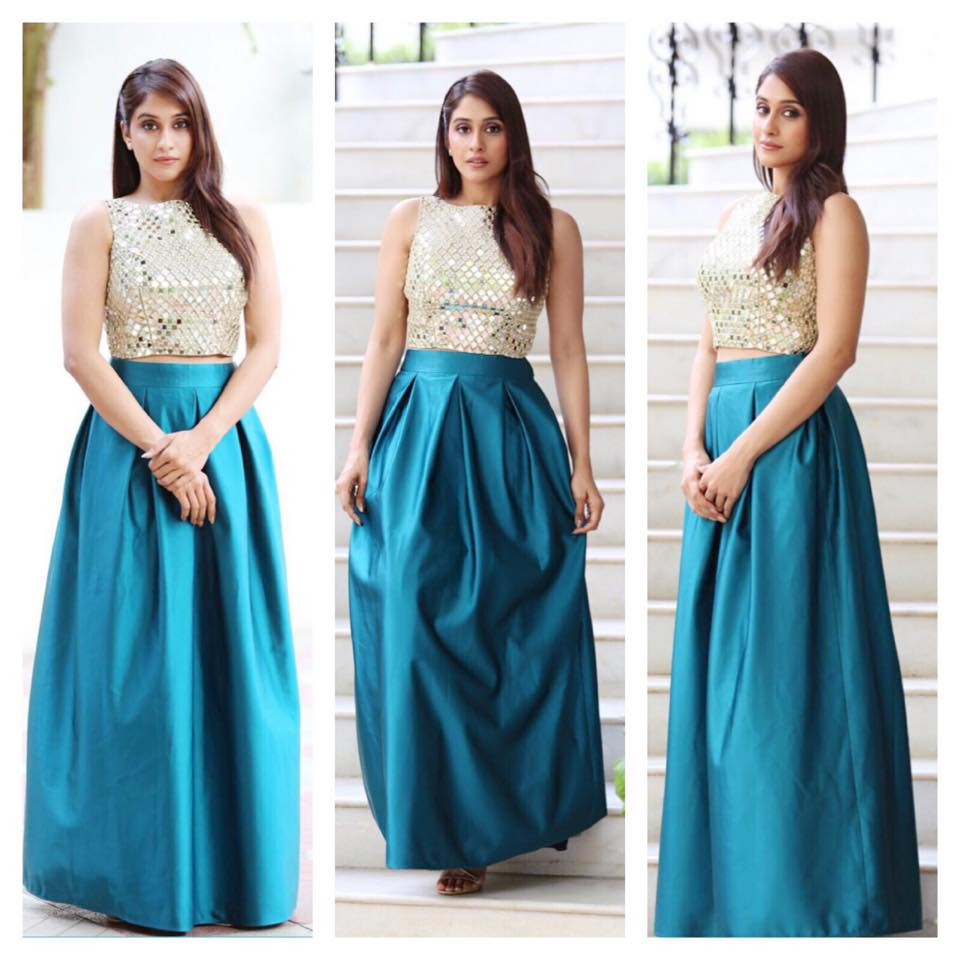 regina in blue skirt