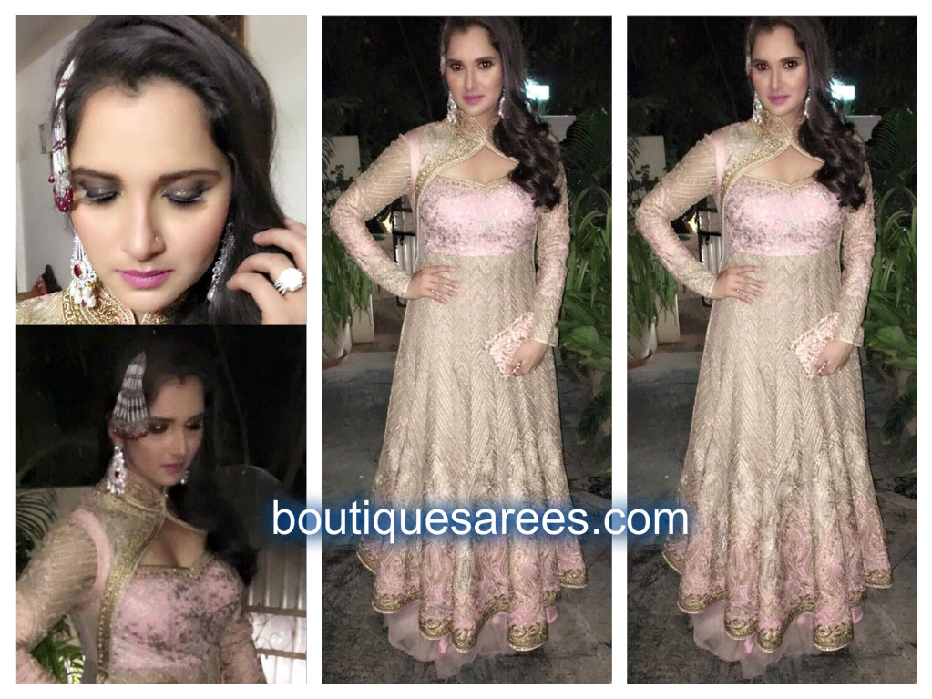 sania mirza in rimple and harreet narula couture