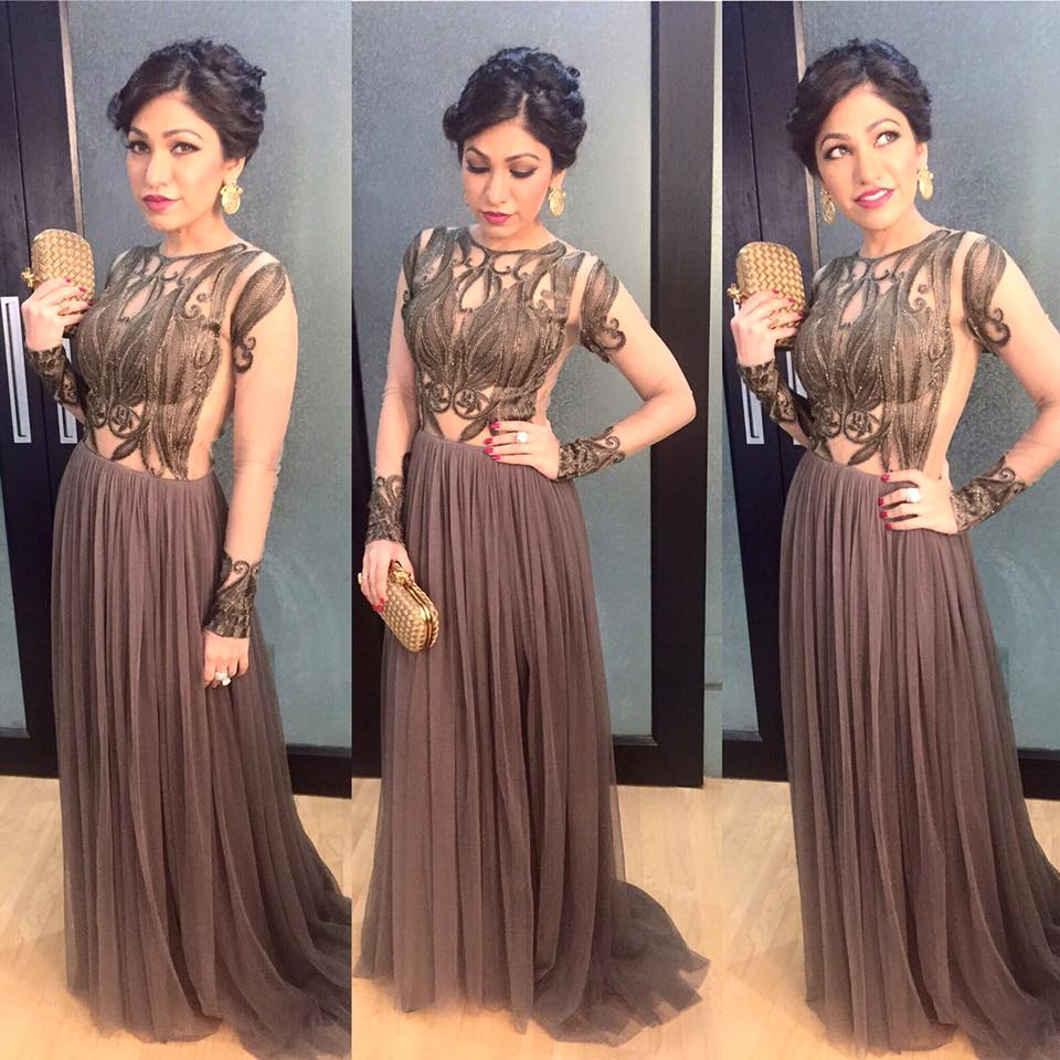 tulsi kumar in long dress
