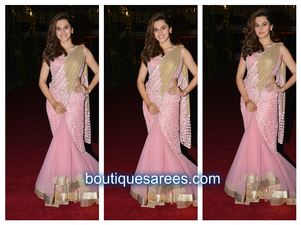Taapsee Pannu in pink half saree