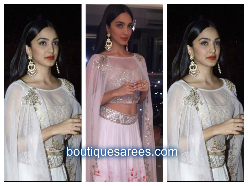 kiara advani in white lehenga design