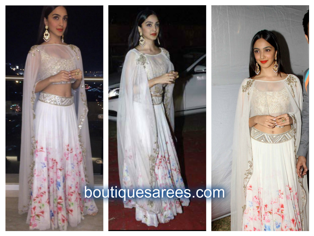 kiara advani in white lehenga