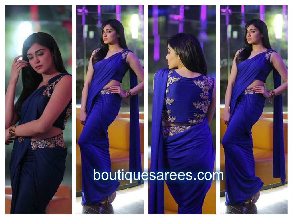 adah sharma in binal shah saree