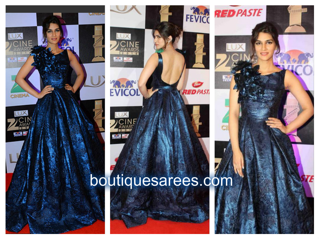 kriti sanon in blue ball dress