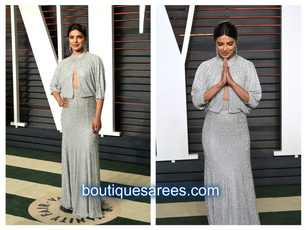 priyanka chopra in silver dress