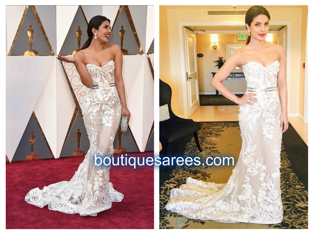 priyanka chopra in white dres