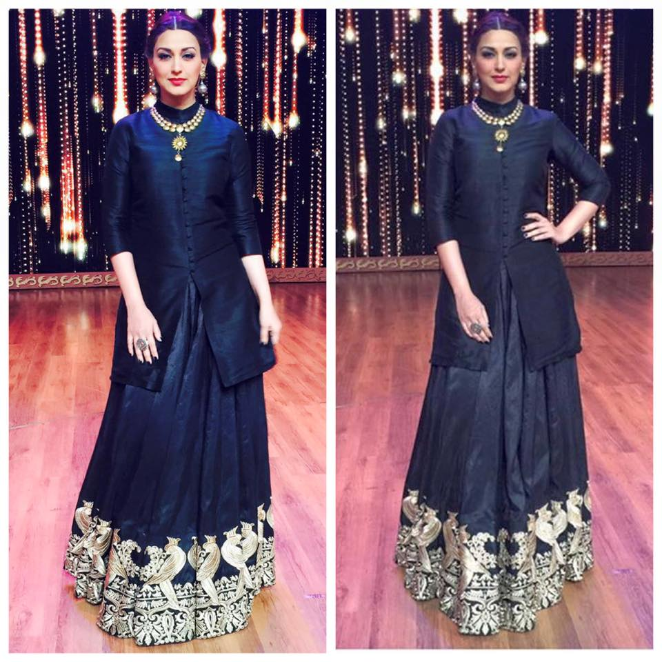 sonali bendre in surendri by yogesh choudary dress