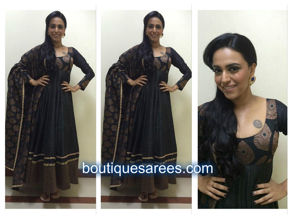 swara in black anarkali